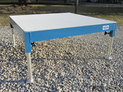 Aluminum Table with painted and sand textured surface